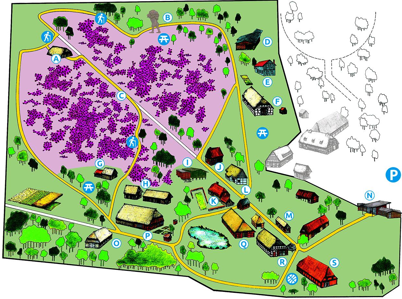 Geländeplan Museumsdorf Hösseringen