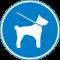 Hunde können an der Leine mitgeführt werden.