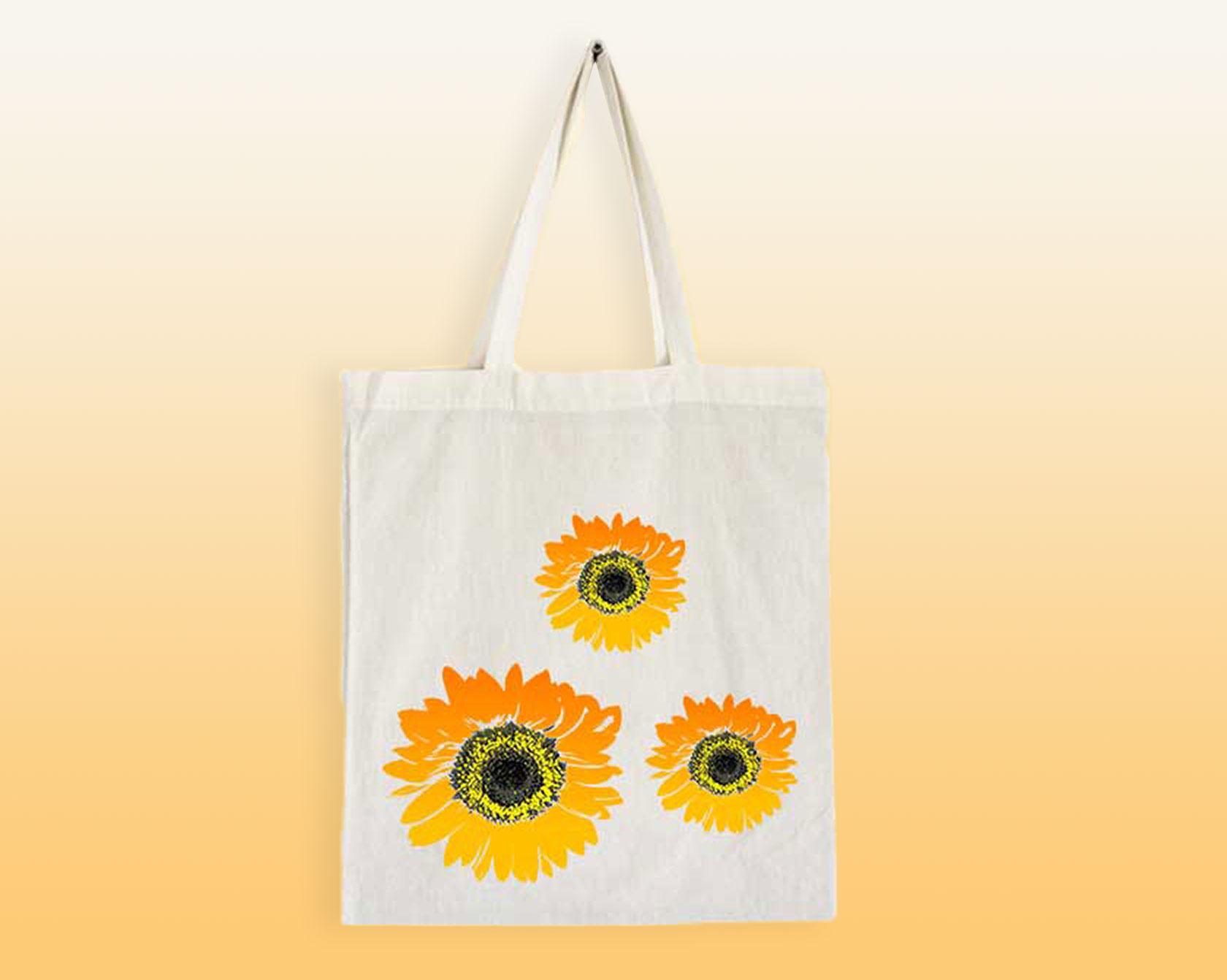 MITMACHAKTION FÜR KINDER: Stofftasche mit Blumendruck