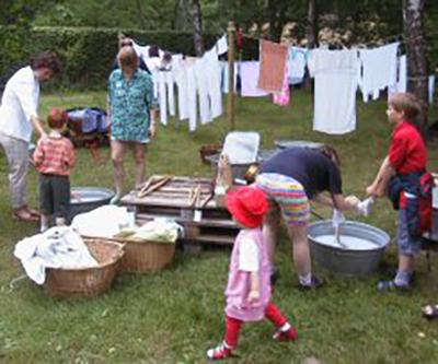 Wäsche waschen wie früher